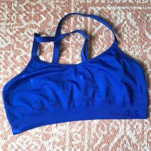 Blue UA sports bra